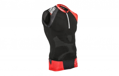 compressport maillot sans manche trail shirt v2 tank noir xl