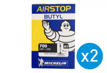 Michelin Pack de 2 Chambres à air 700 x 18/25 A1