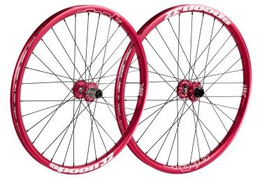 SPANK Paire de roues SPOON 32 26´´ Avant 20x110mm, Arrière 12x150mm Rouge