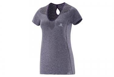 SALOMON T-Shirt ELEVATE Gris Femme