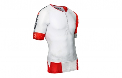 compressport maillot tr3 aero top blanc m