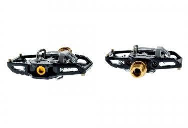 ht paire de pedales automatiques t1 titane noir