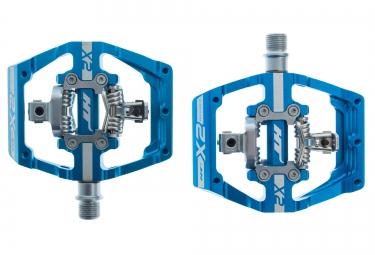 Ht paire de pedales automatiques x2 bleu