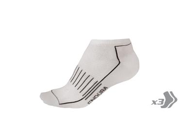 Endura pack de 3 paires de chaussettes coolmax race entrainement blanc 37 5 42