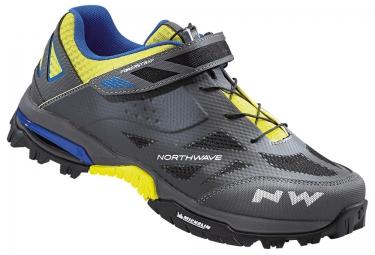 paire de chaussures vtt northwave enduro gris jaune 44
