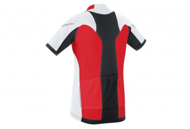 gore bike wear maillot xenon s rouge blanc s