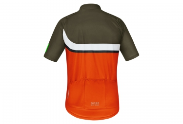 gore bike wear maillot power trail orange kaki xl