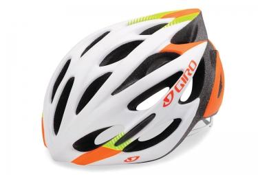 casque giro monza blanc vert orange s 51 55 cm