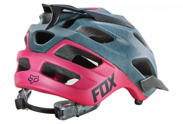 casque fox flux 2016 gris rose l xl 59 64 cm