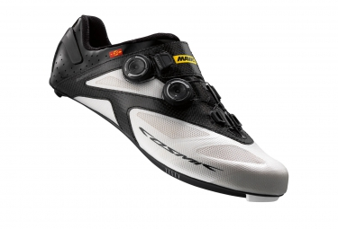 chaussures route mavic cosmic ultimate ii 2016 blanc noir 41 1 3