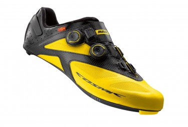 chaussures route mavic cosmic ultimate ii 2016 jaune 46 2 3