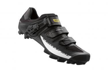 chaussures vtt mavic crossride sl elite 2016 noir blanc 43 1 3