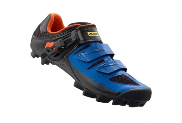 chaussures vtt mavic crossride sl elite 2016 noir bleu 46 2 3