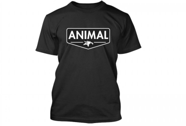 Animal t shirt emblem noir s
