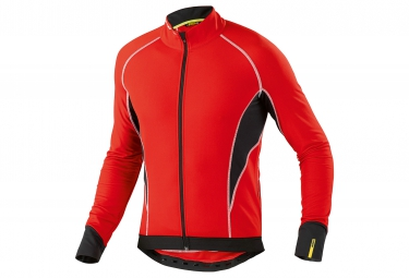 mavic 2016 maillot manches longues cosmic elite thermo rouge s
