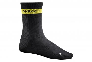 Mavic paire de chaussettes haute cosmic noir 35 38