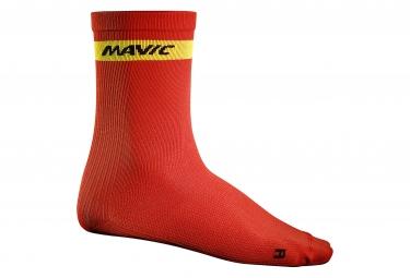 mavic 2016 paire de chaussettes haute cosmic rouge 35 38
