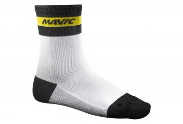 mavic 2016 paire de chaussettes ksyrium carbon blanc 43 46