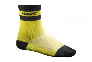 chaussettes mavic ksyrium carbon jaune 43 46
