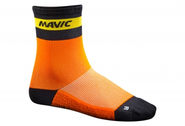 mavic 2016 paire de chaussettes ksyrium carbon orange x 35 38