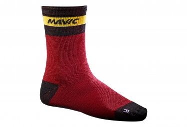 mavic 2016 paire de chaussettes ksyrium merino rouge 35 38
