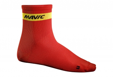 mavic 2016 paire de chaussettes medium cosmic rouge 39 42