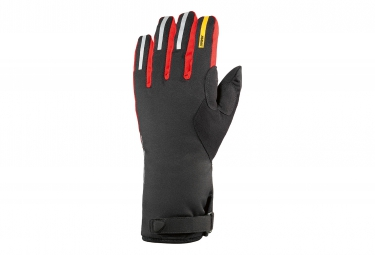 mavic paire de gants ksyrium pro thermo noir rouge xl