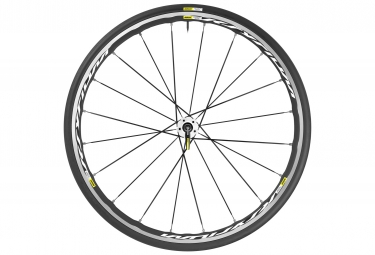 mavic 2016 roue arriere ksyrium elite blanc pneu yksion pro 25mm shimano sram