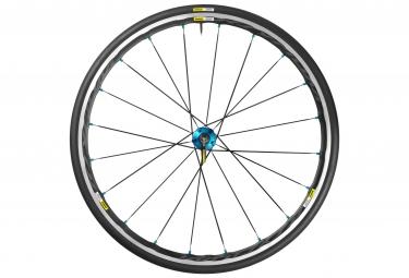 mavic roue arriere ksyrium elite bleu pneu yksion pro 25mm shimano sram