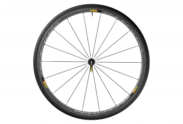 Mavic roue avant ksyrium pro carbone sl noir boyau yksion pro 25mm