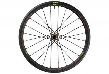 Mavic roue avant ksyrium pro disc allroad centerlock pneu yksion elite 30 mm