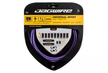 jagwire kit cables et gaines pour derailleurs universal sport shift violet