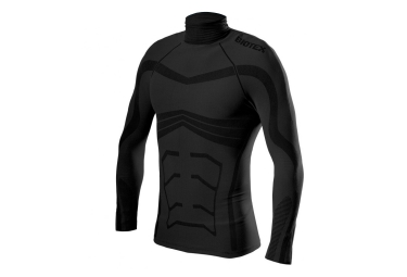 maillot manches courtes biotex powerflex warm noir l xxl
