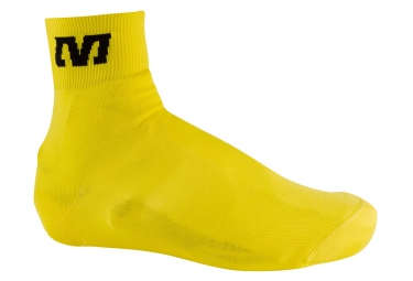 mavic couvre chaussures tricote jaune 35 38