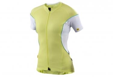 mavic maillot femme cosmic pro vert blanc xs