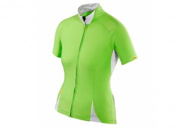 mavic maillot femme manches courtes cloud vert xl