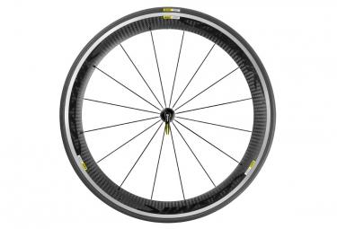 mavic roue avant cosmic pro carbone noir pneu yksion pro 23mm
