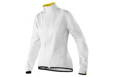 mavic veste impermeable femme oxygen h2o blanc m
