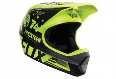 casque fox rampage comp union jaune noir l 59 60 cm