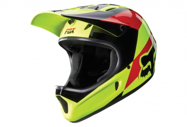 casque fox rampage mako jaune xl 61 62 cm