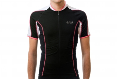 gore bike wear maillot power phantom 2 0 noir blanc l