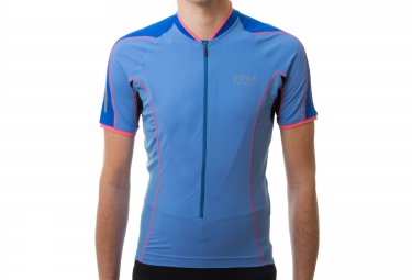 gore bike wear maillot power phantom 2 0 bleu m