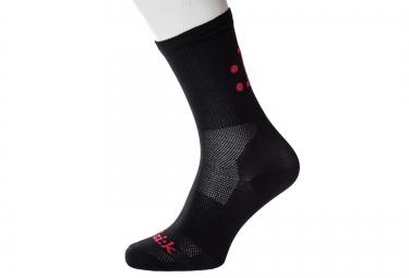 Fizik paire de chaussettes ete noir rouge 36 40