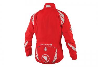 endura veste impermeable 4 en 1 luminite rouge s