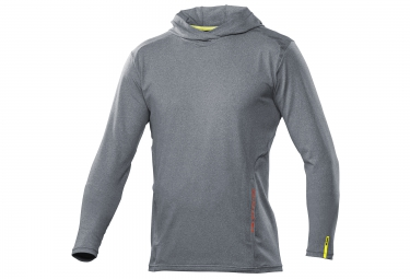 mavic 2016 maillot manches longues a capuche crossride ls hoodie denim gris l