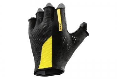 mavic paire de gants cosmic pro noir jaune xs