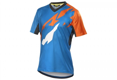mavic maillot manches courtes crossmax pro bleu orange s