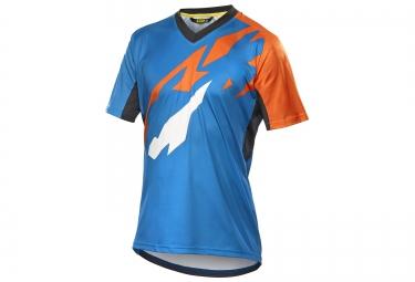 mavic maillot manches courtes crossmax pro bleu orange xs