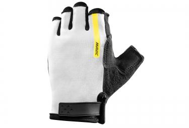 mavic paire de gants aksium w blanc noir femme xs