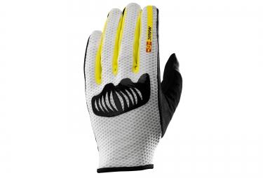gants mavic crossmax ultimate blanc noir jaune xs